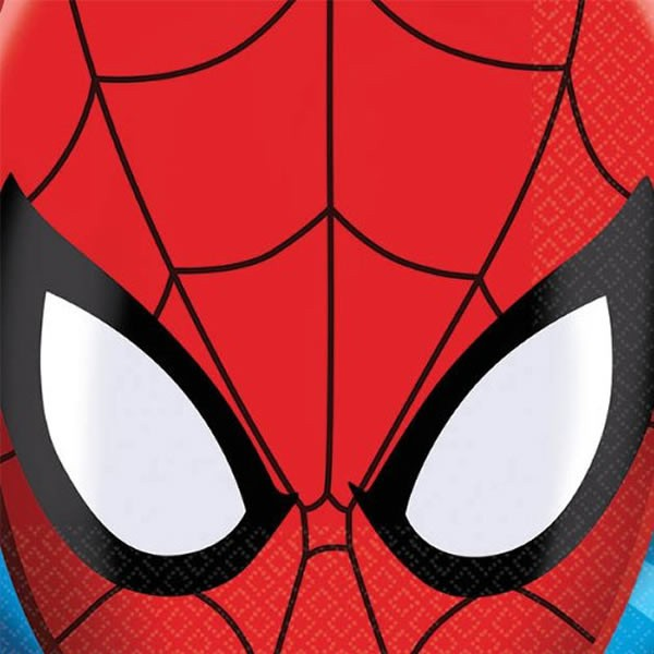 SPIDERMAN COCKTAIL PARTY NAPKINS - PACK OF 16