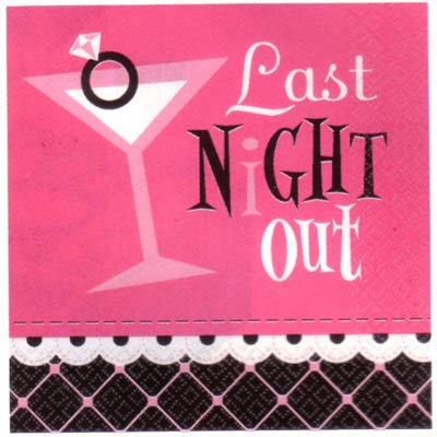 GIRLS NIGHT OUT COCKTAIL NAPKINS - PACK OF 16