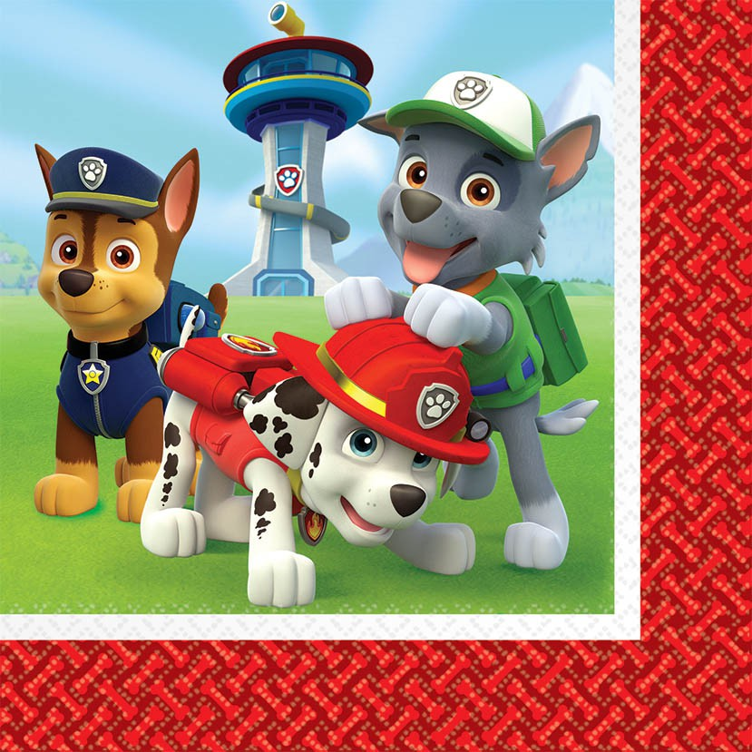 PAW PATROL LUNCH NAPKINS - PACK OF 16