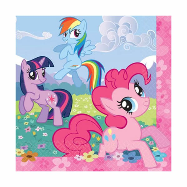 MY LITTLE PONY LUNCH NAPKINS - PACK OF 16