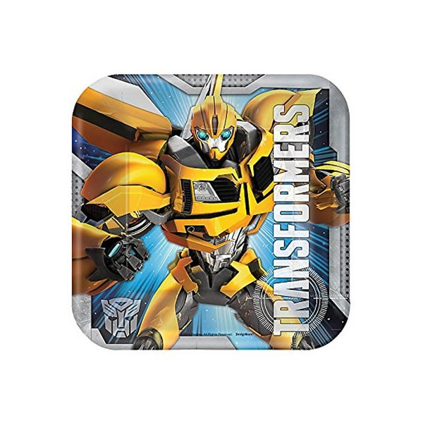 TRANSFORMERS - SQUARE LUNCH PLATES PACK OF 8