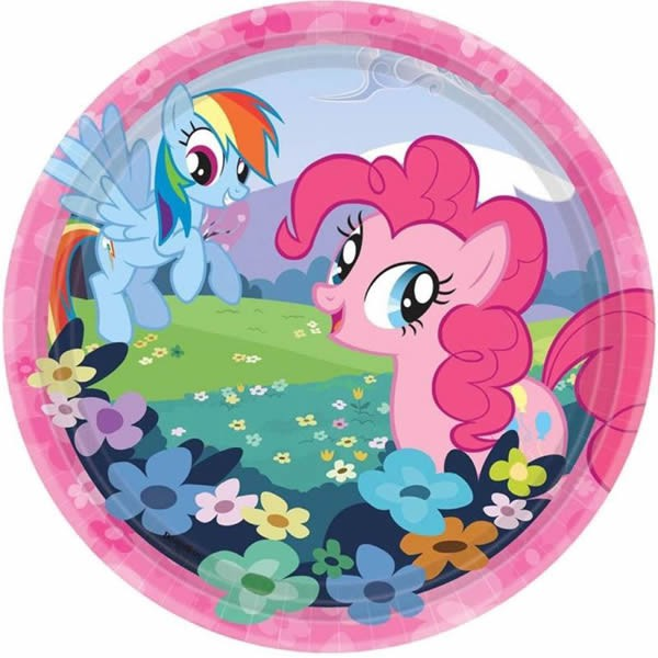 MY LITTLE PONY LUNCH PLATES - PACK OF 8