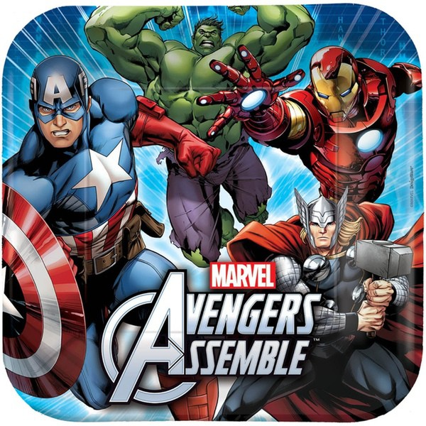 AVENGERS PARTY DINNER PLATES - PACK OF 8