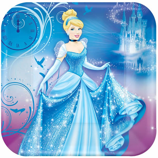 DISNEY PRINCESS CINDERELLA DINNER PLATES - PACK OF 8
