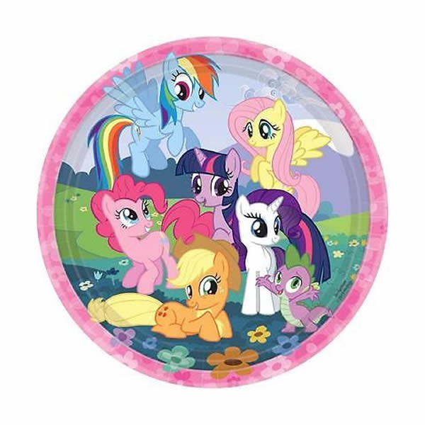 MY LITTLE PONY DINNER PLATES - PACK OF 8