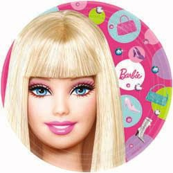 BARBIE DINNER PLATES - PACK OF 8