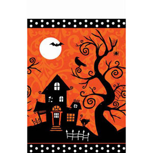 FRIGHTFUL FANCY HALLOWEEN TABLE COVER