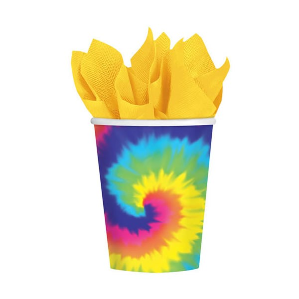 TYE DYED CUPS - PACK OF 8