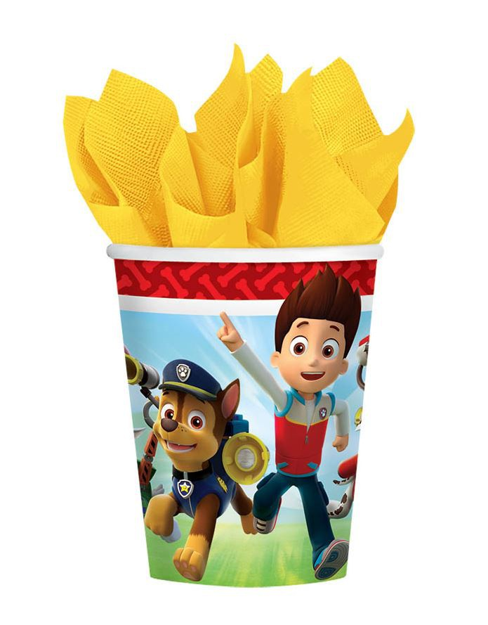 PAW PATROL PAPER CUPS - PACK OF 8
