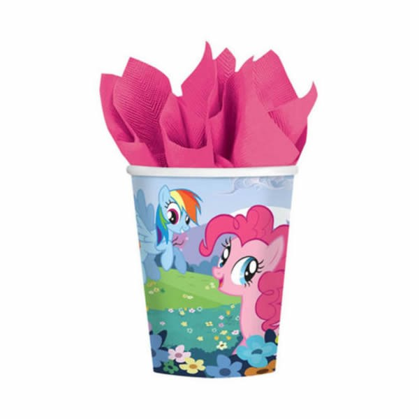 MY LITTLE PONY CUPS NEW DESIGN - PACK OF 8