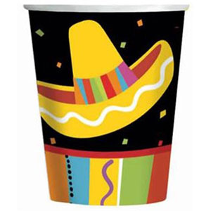 MEXICAN FIESTA FUN CUPS PK OF 8