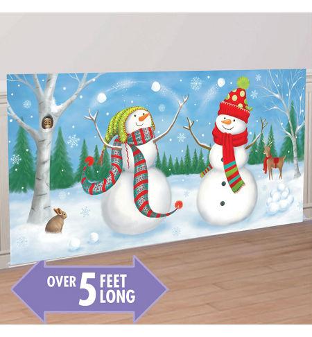 Christmas Scene Setters Australia.Scene Setter Whimsical Snowmen