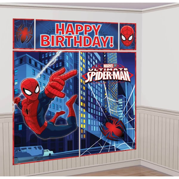 SPIDERMAN PARTY WALL DECORATING KIT