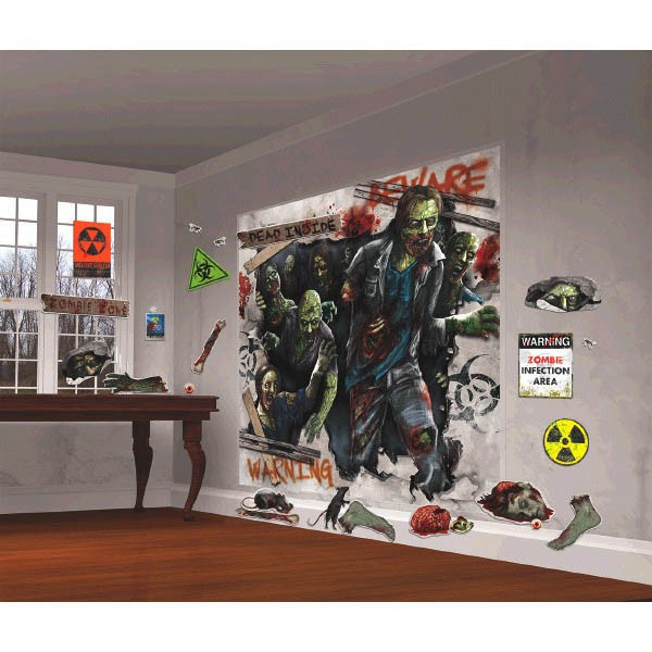 SCENE SETTER - ZOMBIES WALL DECORATING KIT