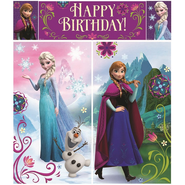 DISNEY FROZEN GIANT WALL DECORATING 5 PIECE SET