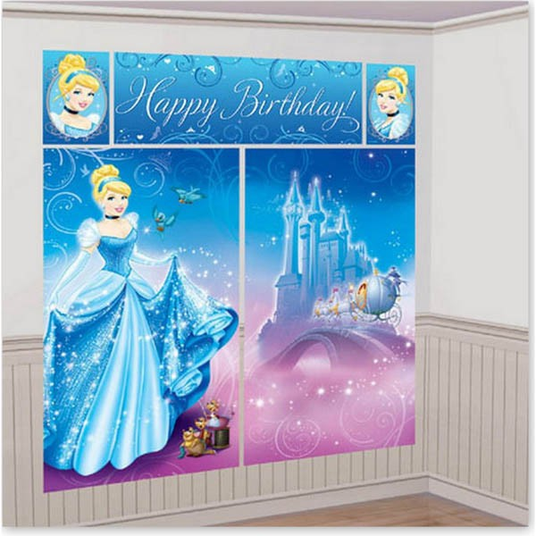 DISNEY PRINCESS CINDERELLA 'HAPPY BIRTHDAY' SCENE SETTER