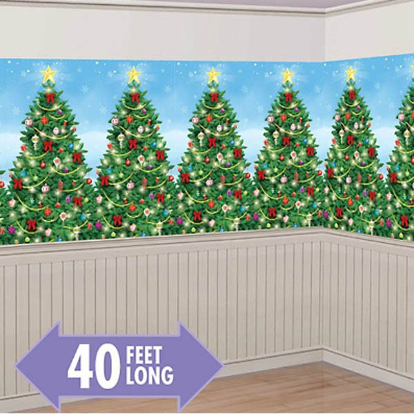 SCENE SETTER - EVERGREEN CHRISTMAS ROOM ROLL