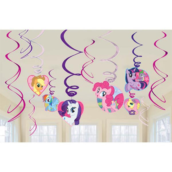 MY LITTLE PONY HANGING SWIRLS PACK OF 12