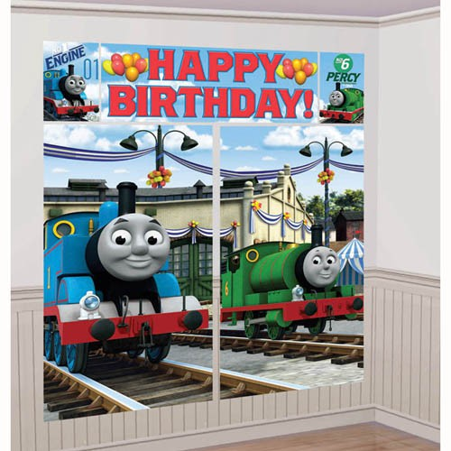 THOMAS THE TANK ENGINE GIANT WALL DECORATING KIT