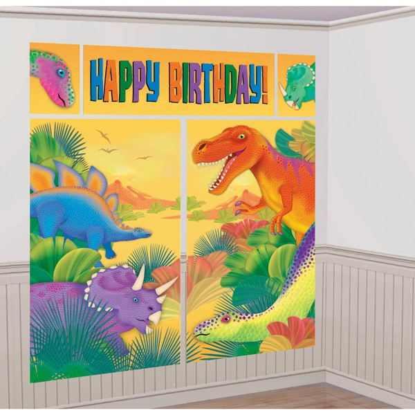 SCENE SETTER - DINOSAUR WALL DECORATING KIT