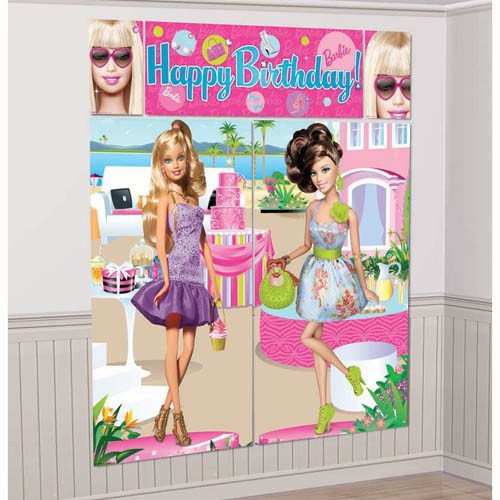 BARBIE 'HAPPY BIRTHDAY' WALL DECORATING KIT