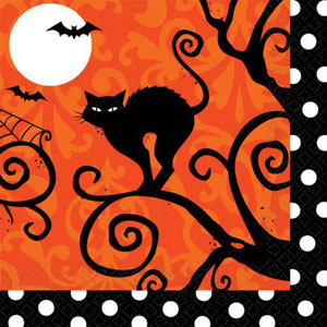 FRIGHTFUL FANCY HALLOWEEN COCKTAIL NAPKINS VALUE PACK OF 36