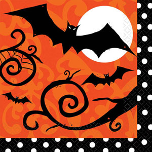 FRIGHTFUL FANCY HALLOWEEN LUNCH NAPKINS VALUE PK OF 36
