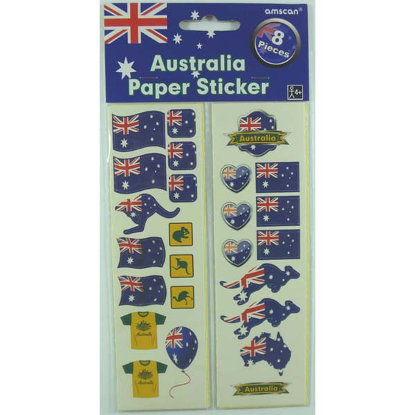 AUSTRALIA DAY ASSORTED STICKERS PACK OF 100