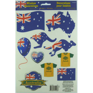 AUSTRALIA DAY VINYL WINDOW DECORATIONS