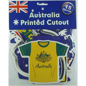 AUSTRALIA DAY ASSORTED CUTOUTS PACK OF 15