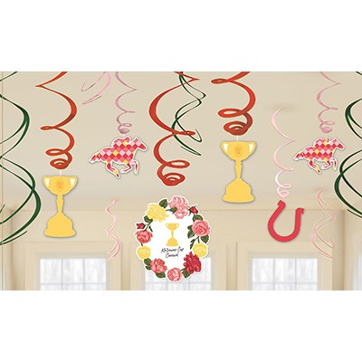 MELBOURNE CUP CARNIVAL SWIRLS - PACK OF 12