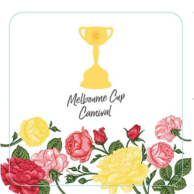 MELBOURNE CUP CARNIVAL DRINK COASTERS - BULK PACK OF 50