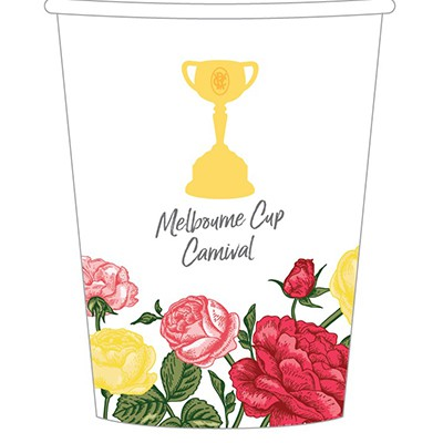 MELBOURNE CUP CARNIVAL CUPS - PACK OF 8