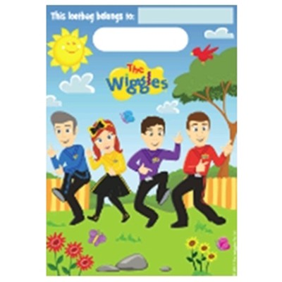 WIGGLES NEW DESIGN LOOT BAGS - PACK OF 8