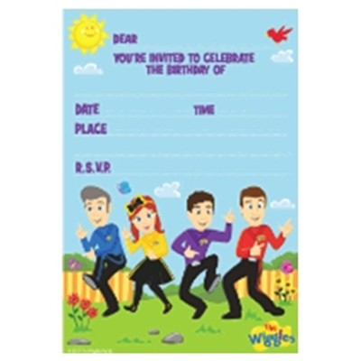 WIGGLES PARTY INVITATIONS - PACK OF 8