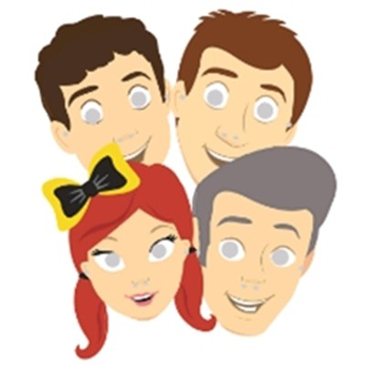 WIGGLES NEW GROUP PARTY MASKS - PACK OF 8