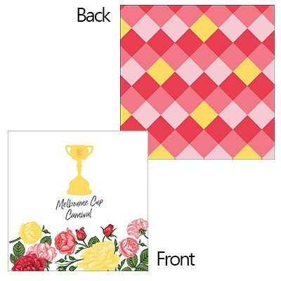 MELBOURNE CUP CARNIVAL COCKTAIL NAPKINS - BULK PACK OF 50
