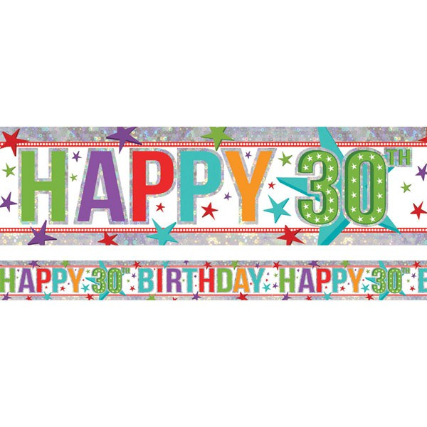 30TH BIRTHDAY BANNER - FOIL