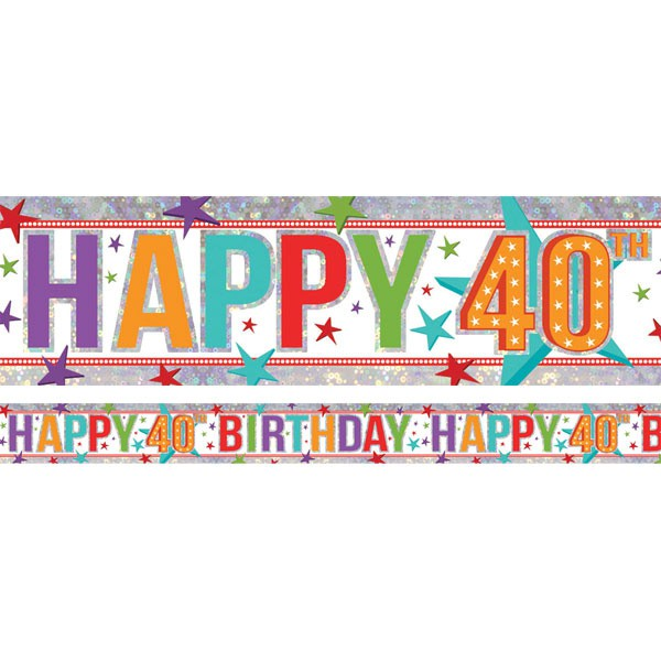 40TH BIRTHDAY BANNER - FOIL