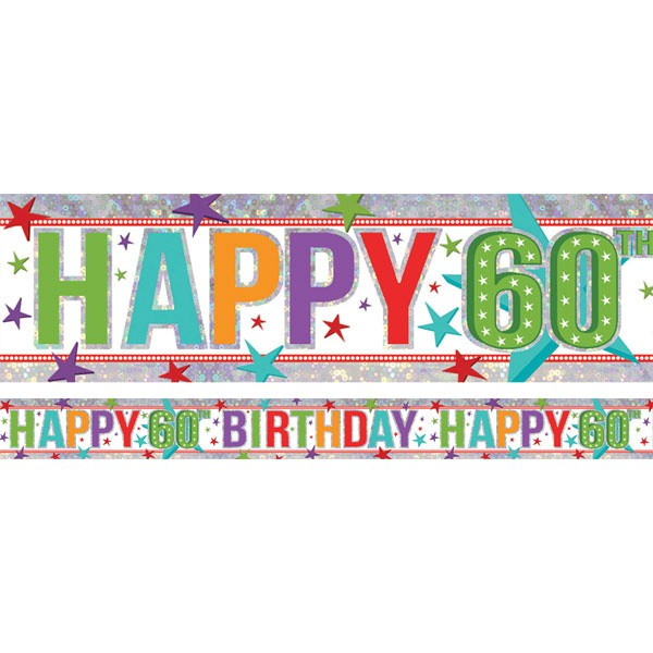 60TH BIRTHDAY PARTY BANNER - FOIL