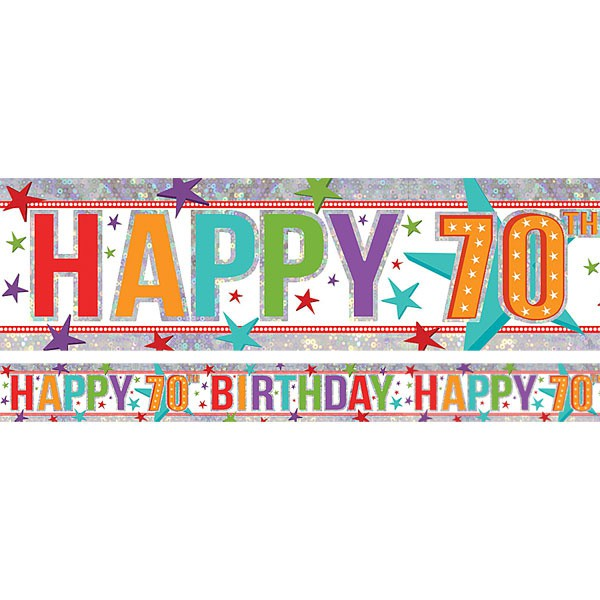 70TH BIRTHDAY PARTY BANNER - FOIL
