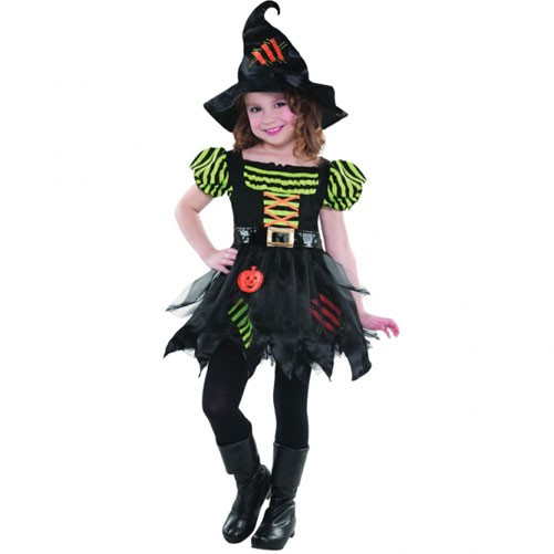 PUMPKIN PATCH WITCH COSTUME MEDIUM AGES 6-8 YEARS - 4 LEFT ONLY