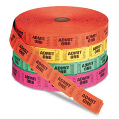 CARNIVAL TICKETS - ROLL OF 1000