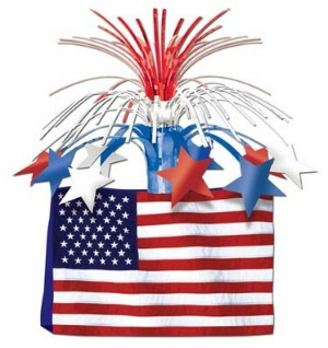 AMERICAN FLAG TABLE CENTREPIECE