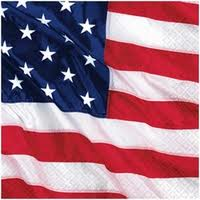 AMERICAN PARTY LUNCH NAPKINS - PACK OF 16