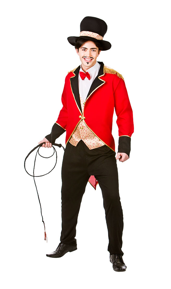 RINGMASTER/ANIMAL TAMER COSTUME - LARGE