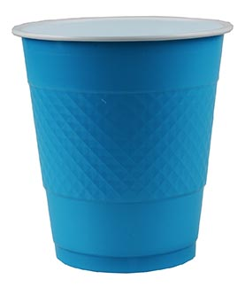 DISPOSABLE CUPS TWO TONE AQUA BLUE - PACK OF 20