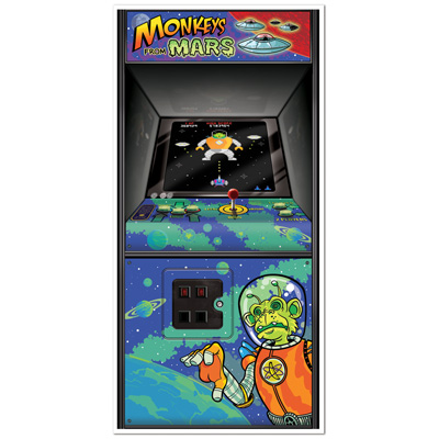 AWESOME 80'S ARCADE SPACE INVADERS DOOR COVER