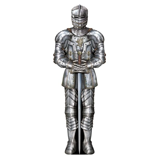MEDIEVAL JOINTED SUIT OF ARMOUR GIANT 6FT CUTOUT