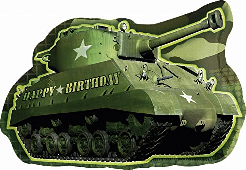 Image of Foil Super Shape Balloon  Camouflage Army Tank